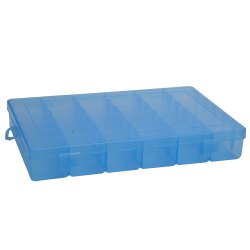 Detachable 36 Compartments Multifunctional Plastic Storage Box - BLUE
