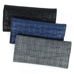 Embossed Clutch Checkbook Wallet with Multi Card Slots -