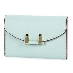 Lady Simple Geometric Mini Short Clutch Wallet Card Holder Coin Purse