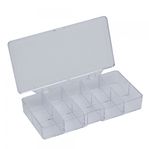 10 Compartments Plastic Transparent Jewelry Bead Storage Box -