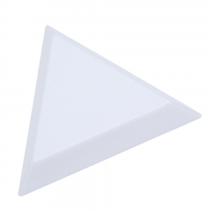 Plastic Triangle Dish Small Components Collection Plate -