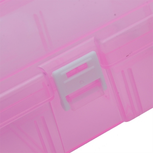 Transparent Plastic Jewelry Bead Cosmetics Storage Box -