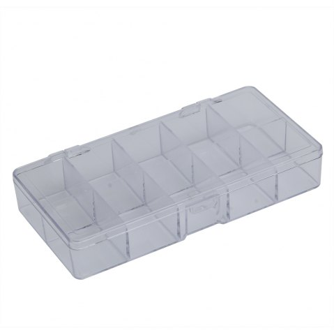 Online 10 Compartments Plastic Transparent Jewelry Bead Storage Box