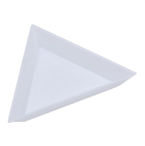Affordable Plastic Triangle Dish Small Components Collection Plate