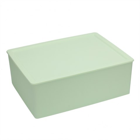 Latest Plastic Underwear Socks Bra Closet Divider Storage Box with Cover - GREEN  Mobile