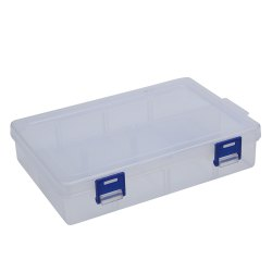 2 Compartments Plastic Jewelry Bead Hardware Tool Storage Box - TRANSPARENT