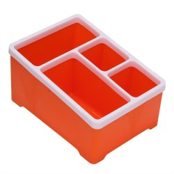 4 Compartments Cosmetics Desktop Remote Control Debris Classification Storage Box