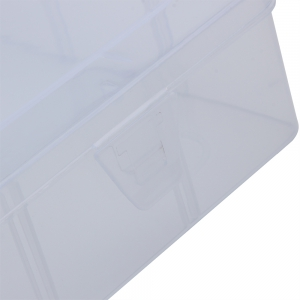 Medium Sized Transparent Plastic Fishing Tackle Storage Box -