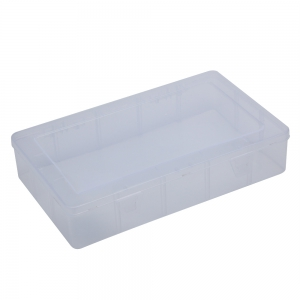 Rectangular Transparent Plastic Jewelry Bead Hardware Storage Box - Transparent