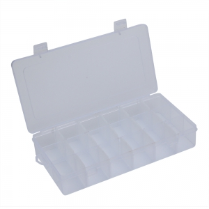 Detachable 18 Compartments Transparent Plastic Jewelry Bead Storage Box -