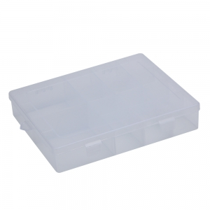 Detachable 14 Compartments Transparent Plastic Jewelry Bead Storage Box - Transparent