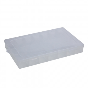 28 Compartments Transparent Plastic Jewelry Bead Storage Box - Transparent