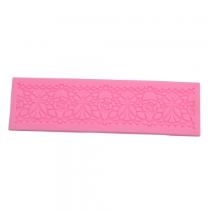 DIY Silicone Flower Cake Fondant Embossed Border Trim Decorating Mold Tool
