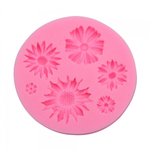 Chrysanthemum Flower Silicone Fondant Cake Decoration Mold -