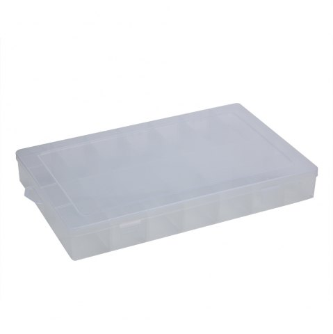 Fashion 28 Compartments Transparent Plastic Jewelry Bead Storage Box TRANSPARENT