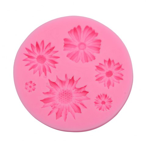 New Chrysanthemum Flower Silicone Fondant Cake Decoration Mold - PINK  Mobile