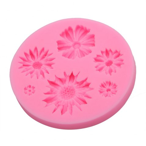 Outfits Chrysanthemum Flower Silicone Fondant Cake Decoration Mold PINK
