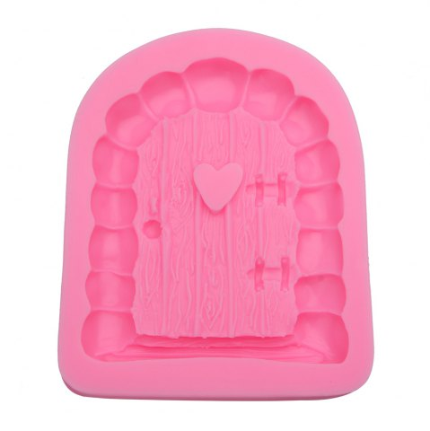 Trendy Cartoon Art Fairy Door Shaped Silicone Fondant Cake Decoration Mold PINK