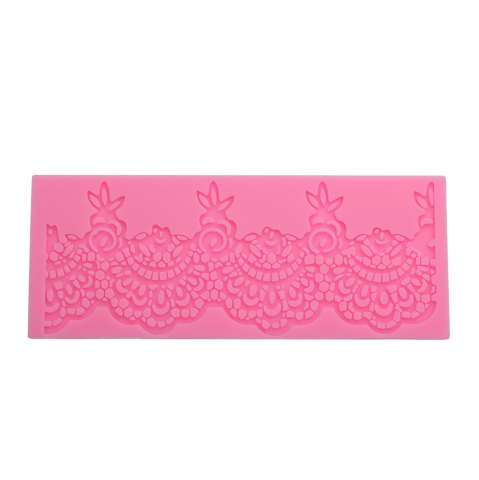 Sale Lace Flower Silicone Fondant Cake Rim Decoration Mold PINK