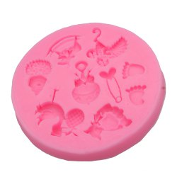 Creative Silicone Cartoon Animal Pattern Fondant Cake Mold - PINK