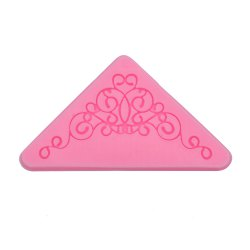 Creative Silicone Triangle Lace Fondant Cake Decoration Mold - PINK