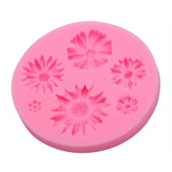 Chrysanthemum Flower Silicone Fondant Cake Décoration Moule - ROSE Pu00c2LE