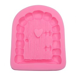 Cartoon Art Fairy Door Shaped Silicone Fondant Cake Decoration Mold - PINK