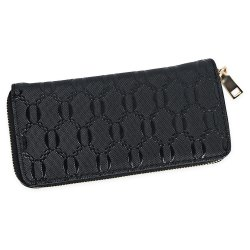 Guapabien Fashion Geometric Patterns Square Cross-section Large Capacity Women Clutch Wallet -