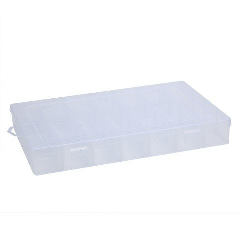 Buy Detachable 28 Compartments Transparent Plastic Jewelry Bead Storage Box TRANSPARENT