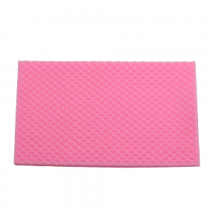 DIY Fish Scale Pattern Cake Fondant Baking Kit Decorating Tool - Pink - 32