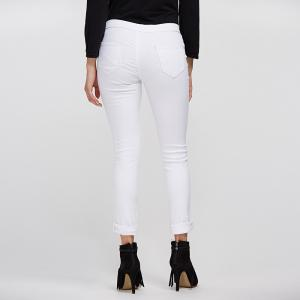 Chic Mid Waist Pure Color Skinny Women Jeans -