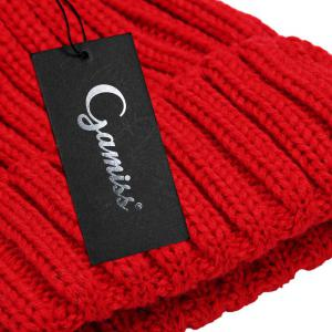 Fashionable Winter Venonat Design Pure Color Knitted Hat for Women -