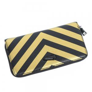 Zip Around Stripe Color Block Women Purse -