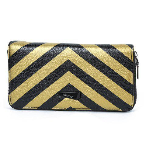 Shops Zip Around Stripe Color Block Women Purse