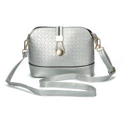 Chic Spliced Women Across Body Bag - SILVER