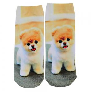 Fashionable 3D Dog Print Cotton Socks for Unisex