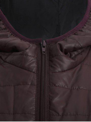 Chic Brief Hooded Pure Color Women Short Down Coat - BROWN L Mobile
