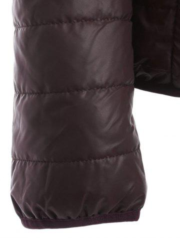 New Brief Hooded Pure Color Women Short Down Coat - BROWN XL Mobile