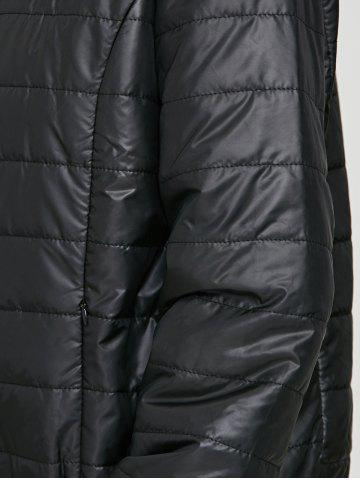 Fancy Brief Hooded Pure Color Women Short Down Coat - BLACK L Mobile
