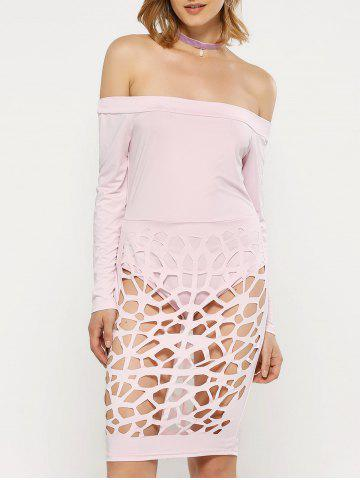 Outfits Off The Shoulder Long Sleeve Bandage Caged Dress