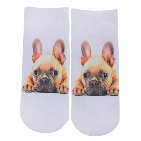 Fashionable 3D Dog Print Cotton Socks for Unisex - Colormix - Style 3
