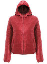 Brief Hooded Pure Color Women Down Coat
