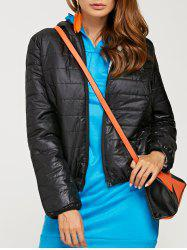 Brief Hooded Pure Color Women Short Down Coat