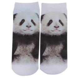 3D Fashionable Pattern Print Cotton Socks for Unisex - BLACK
