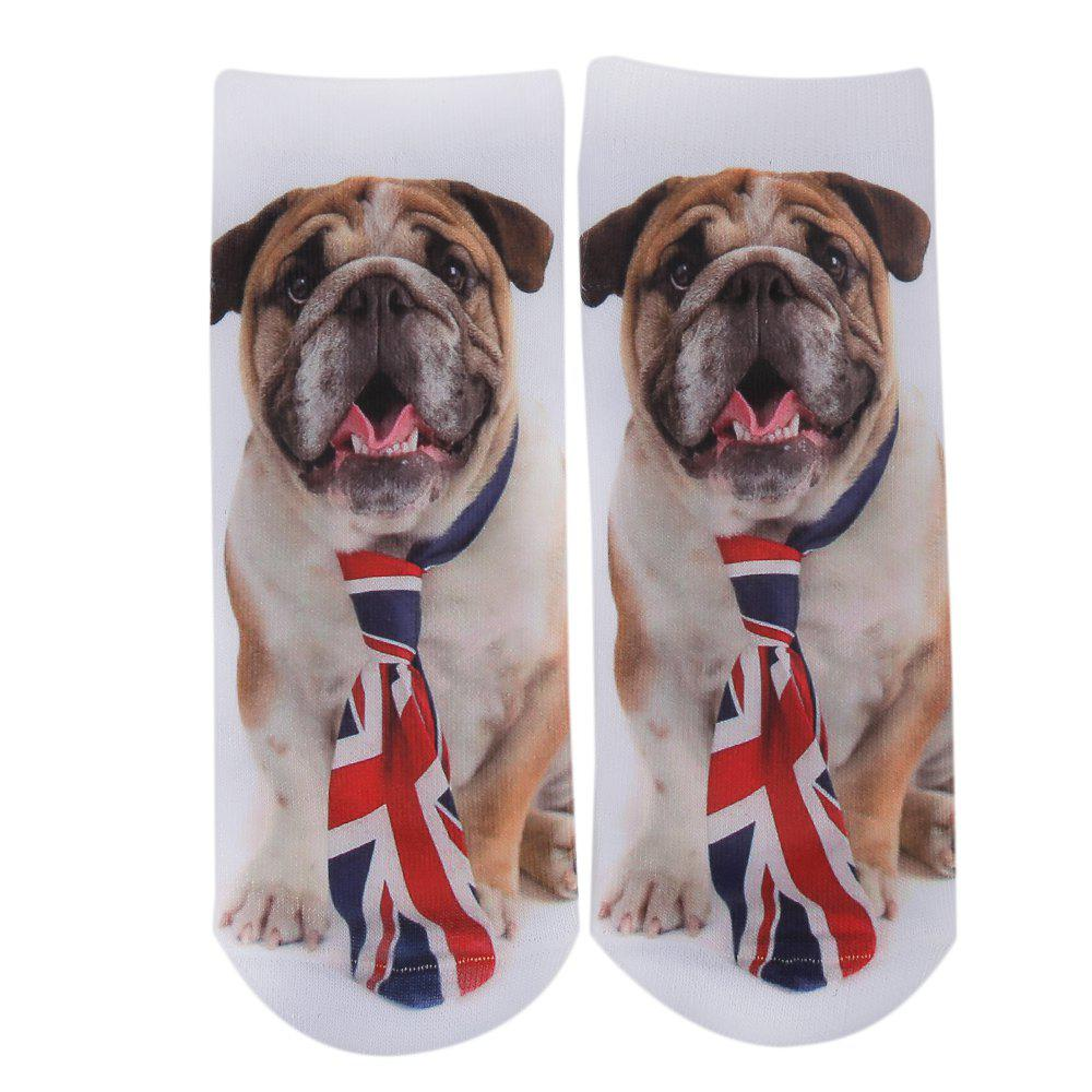 Fashionable 3D Dog Print Cotton Socks for UnisexACCESSORIES<br><br>Color: BROWN; Type: Socks; Group: Adult; Gender: Unisex; Style: Fashion; Pattern Type: Others; Material: Cotton; Product weight: 0.022 kg; Package weight: 0.044 kg; Product size (L x W x H): 23.00 x 10.00 x 0.30 cm / 9.06 x 3.94 x 0.12 inches; Package size (L x W x H): 23.50 x 10.50 x 0.50 cm / 9.25 x 4.13 x 0.2 inches; Package Contents: 1 X Pair of Unisex Socks;
