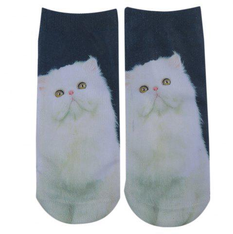 Fashionable 3D Animal Print Cotton Socks for Unisex - Colormix - Style 3