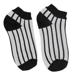 Casual Black and White Design Cotton Socks for Women
