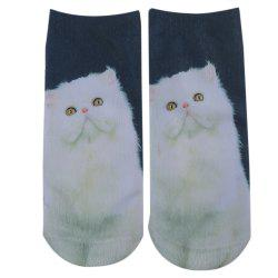 Fashionable 3D Animal Print Cotton Socks for Unisex