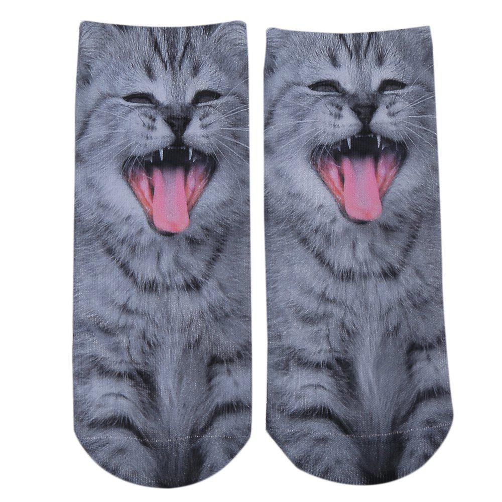 Fashionable 3D Animal Print Cotton Socks for UnisexACCESSORIES<br><br>Color: AZURE; Type: Socks; Group: Adult; Gender: Unisex; Style: Fashion; Pattern Type: Animal; Material: Cotton; Product weight: 0.022 kg; Package weight: 0.044 kg; Product size (L x W x H): 23.00 x 10.00 x 0.30 cm / 9.06 x 3.94 x 0.12 inches; Package size (L x W x H): 23.50 x 10.50 x 0.50 cm / 9.25 x 4.13 x 0.2 inches; Package Contents: 1 x Pair of Unisex Socks;
