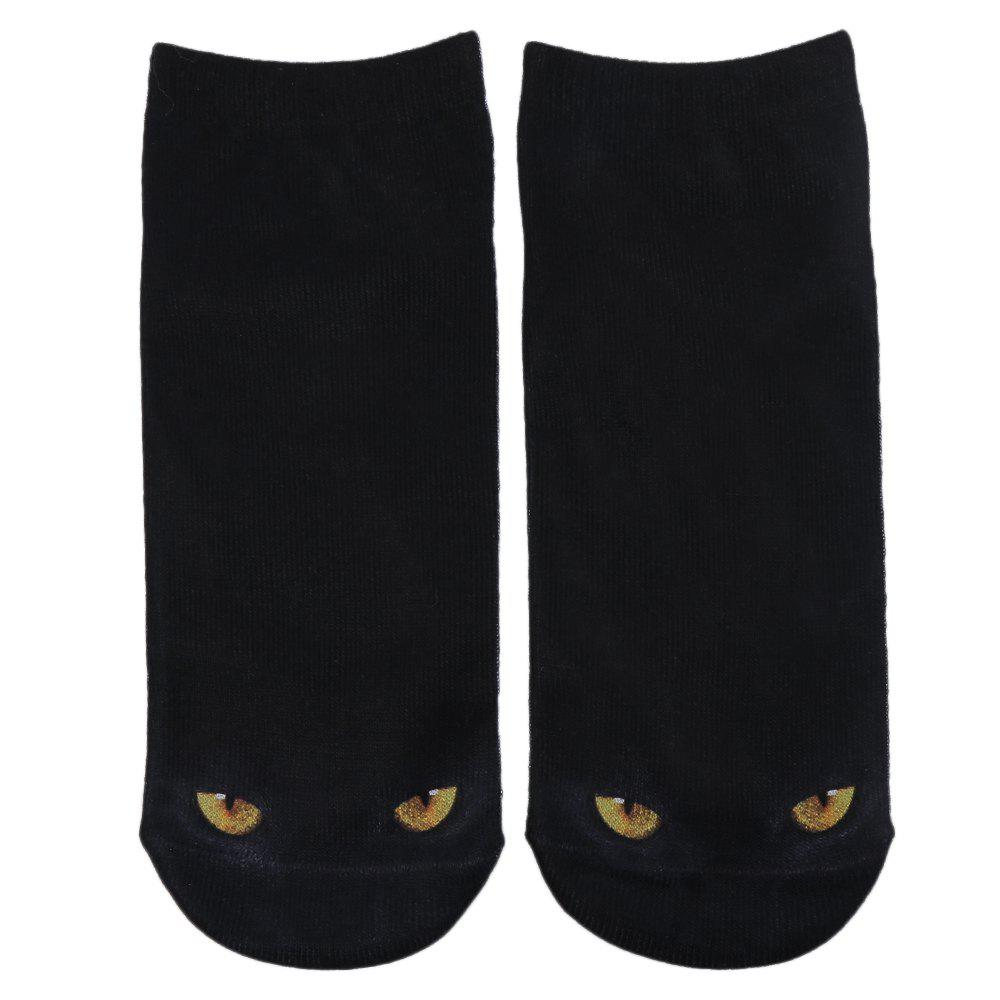 Fashionable 3D Animal Print Cotton Socks for UnisexACCESSORIES<br><br>Color: BLACK; Type: Socks; Group: Adult; Gender: Unisex; Style: Fashion; Pattern Type: Animal; Material: Cotton; Product weight: 0.022 kg; Package weight: 0.044 kg; Product size (L x W x H): 23.00 x 10.00 x 0.30 cm / 9.06 x 3.94 x 0.12 inches; Package size (L x W x H): 23.50 x 10.50 x 0.50 cm / 9.25 x 4.13 x 0.2 inches; Package Contents: 1 x Pair of Unisex Socks;